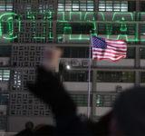 【韓国】今度はアメリカ大使館に嫌がらせが始まる レーザービームで建物に「NO THAAD」の文字